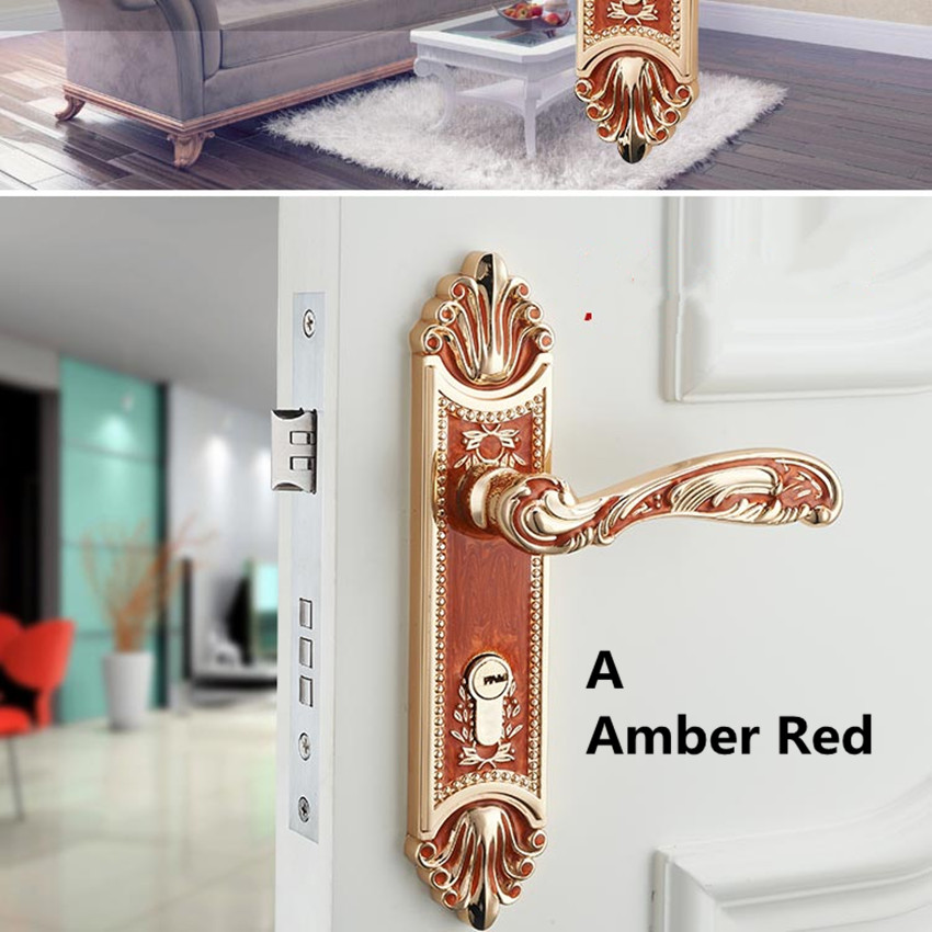 European fashion amber gold room wooden door locks amber red bed room ,kitchen ,book room door lock Top quality zinc alloy locks modern fashion top quality k9 clear crystal room wooden door lock silver chrome bedroom book room mechanical handle lock