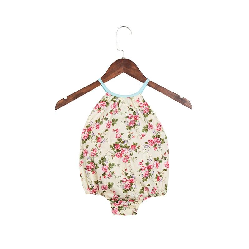 2018 Baby Girl Bubble Romper Ruffles Vintage Floral Prindi Patchwork - Beebiriided - Foto 2