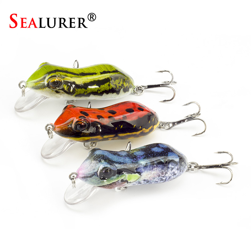 SEALURER Boxed Fishing Lures Float Minnow Like  Frog Artifical Fishfrog 60mm/10g with 2 Treble Hooks Topwater Bait Lure wldslure 1pc 54g minnow sea fishing crankbait bass hard bait tuna lures wobbler trolling lure treble hook