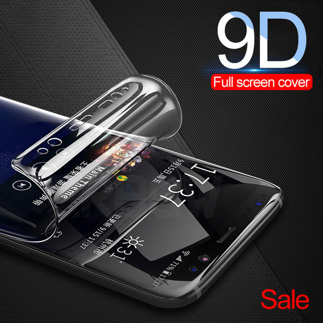 9D מלא כיסוי רך הידרוג 'ל סרט לסמסונג גלקסי S8 S9 S7 S6 קצה בתוספת הערה 8 9 מסך מגן סרט S8Plus S9Plus לא זכוכית