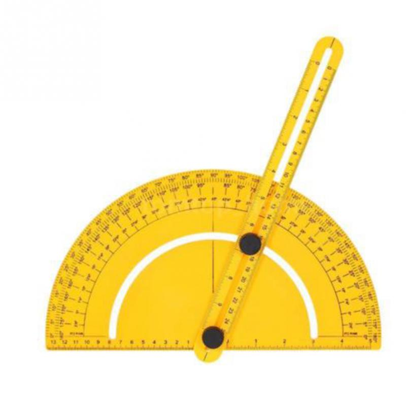 180 Degree Plastic Protractor Angle Finder Measure Ruler Goniometer ...