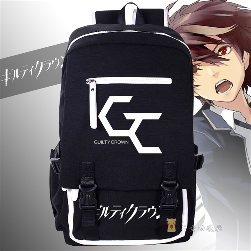 Anime Guilty Crown Shoulders Bag Large Capacity Backpack Men and Women  Cosplay Canvas Computer Travel Bag anime death note cosplay anime backpack male and female student bag travel backpack