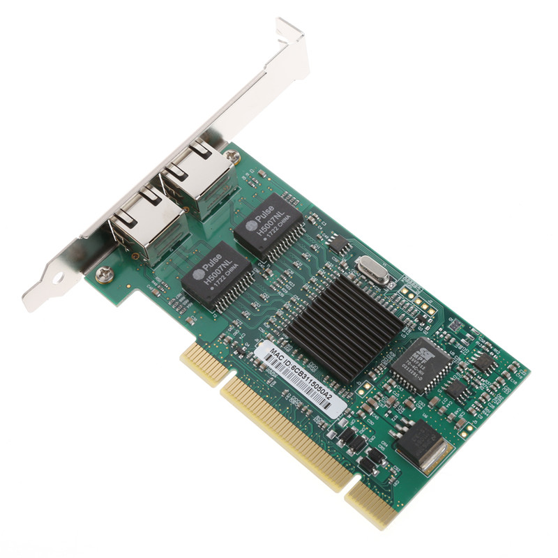 PCI 32Bit 6 Layer PCB board 10/100/1000Mbps Dual RJ45 Port Interface Gigabit Ethernet Lan Network Card high quality sbc 659 b1 1 pci interface half liong board 100