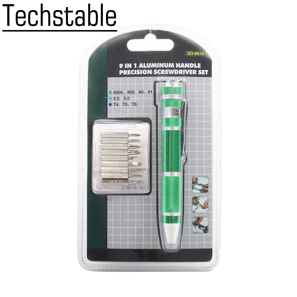 Free shipping High quality 9in1 Precision <font><b>Screwdriver</b></font> Set T6 T5 T4 Phillips000, <font><b>00</b></font>, 0,1 Slotted2.0, 3.0 Repairing Tool image