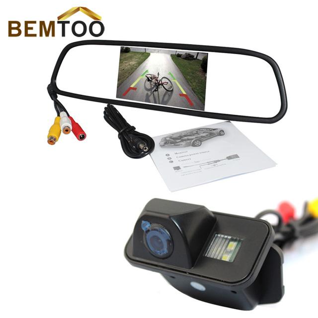 BEMTOO 5 polegada HD Rear View Monitor de Espelho Com Para Toyota Corolla Impermeável Câmera Retrovisor Do Carro Lente Grande Angular, frete Grátis