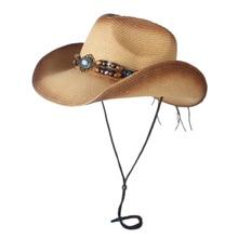 Летняя женская и мужская соломенная открытая западная ковбойская шляпа для джентльмена ковбойская джазовая церковная Кепка папы сомбреро пляжная Солнцезащитная шляпа