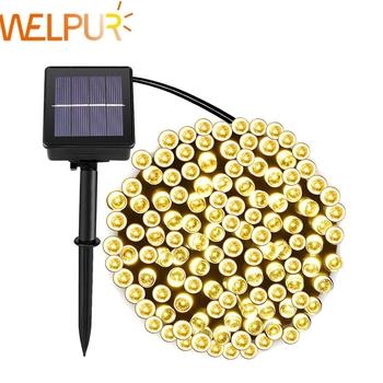 Lampy solarne do ogrodu wodoodporne oświetlenie zewnętrzne 5M 7M 12M 22M 6V świąteczne dekoracje na boże narodzenie wróżka bateria słoneczna tanie i dobre opinie WELPUR CN (pochodzenie) solar lamp outdoor 20 m 1Year Waterproof IP65 Klin Żarówki LED Nowoczesne HOLIDAY Ni-mh New Solar Fairy String Lights