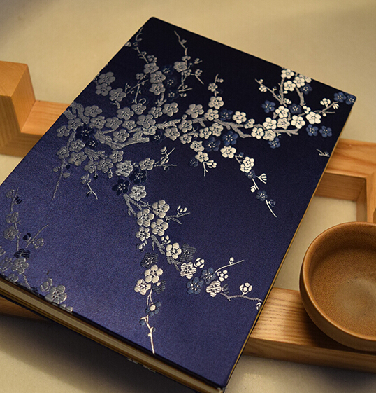 Soft Cover Cloth Cover Hand Made Chinese Flower Diary 21 14 8cm
