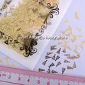 Kawaii design 3d golden metallic christmas tree nail art stickers decoration nail decal cell phone decoration fashion