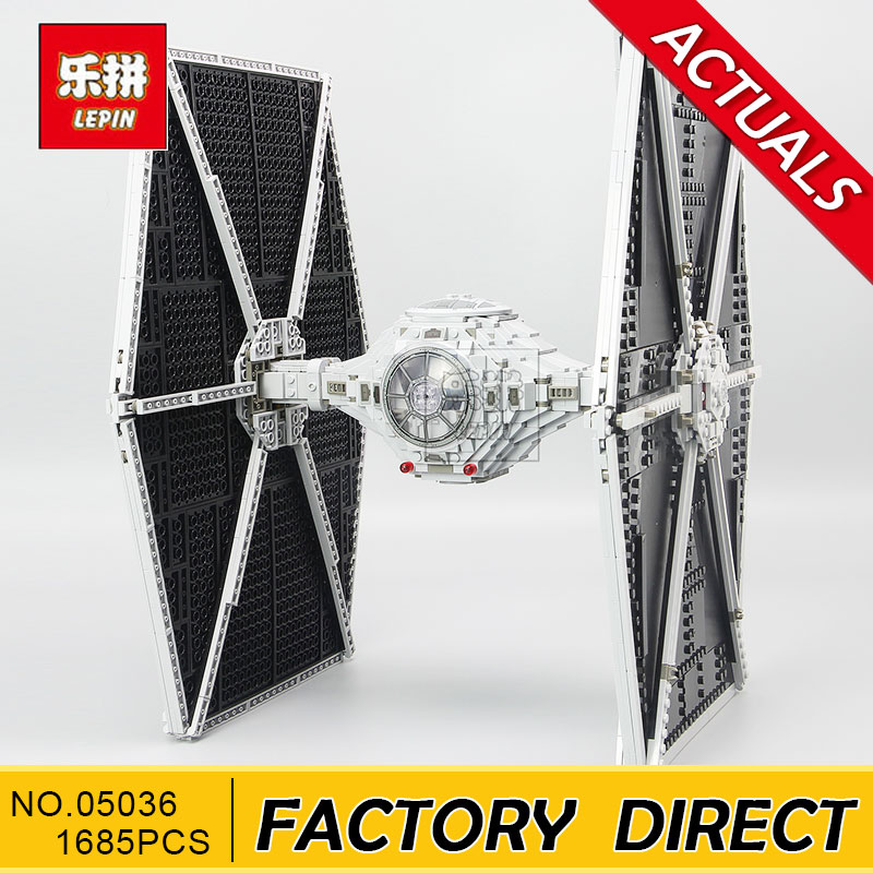 Lepin 05036 Star 1685pcs Wars The Tie Building Fighter Educational Blocks Bricks Toys Compatible 75095 to Brithday Gifts lepin 05036 1685pcs star series wars tie toys fighter building educational blocks bricks compatible with 75095 children boy gift