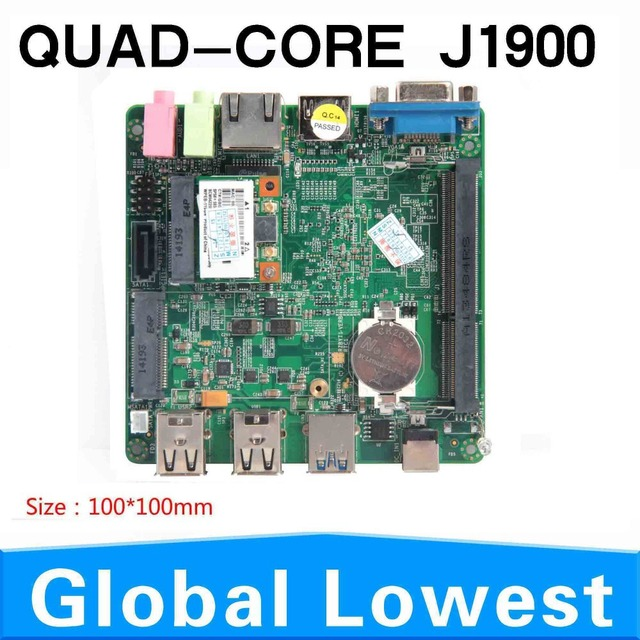 Hot vendas J1900 motherboard plam tamanho 10 * 10 high - end rede máquina integrada 2.0 GHZ mainboard