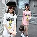 2016 new arrival autumn fashion printed cartoon  children girl long sleeve T-shirt children tops