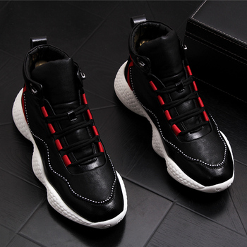 British fashion mens comfortable cow leather shoes young sneakers platform motorcycle ankle spring autumn boots sapatos hombre