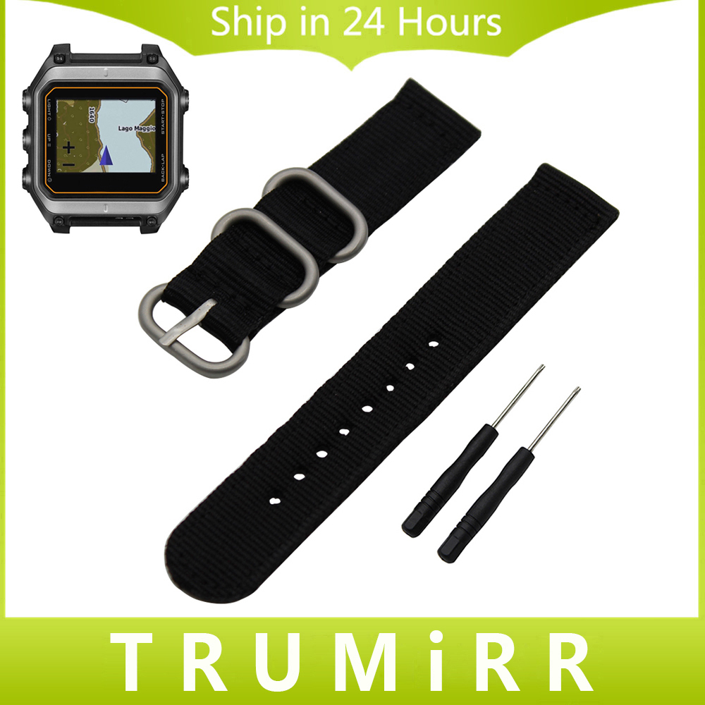 Zulu Nylon Watchband 20mm 22mm 24mm for Garmin Fenix 5S 5 Vivoactive HR Epix Forerunner 935 FR935 Watch Band Fabric Wrist Strap 22mm woven nylon strap replacement quick release easy fit band for garmin fenix 5 forerunner935 approach s60