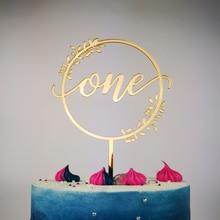Счастливое украшение для именинного торта, для именинного пирога и первого дня рождения, как мальчик/девочка первые украшения на день рождения Декор, в подарок