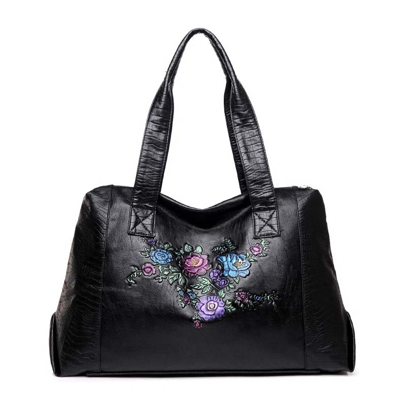 New Fashion Women Handbag Female PU Leather Totes Bags Handbag Luxury Designer Ladies Large Capacity Embossed Black Shoulder Bag