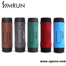 Symrun S1กันน้ำไร้สายซับวูฟเฟอร์แบบพกพาธนาคารอำนาจนำลำโพงบลูทูธหลอดไฟและวิทยุFMสำหรับกีฬากลางแจ้ง