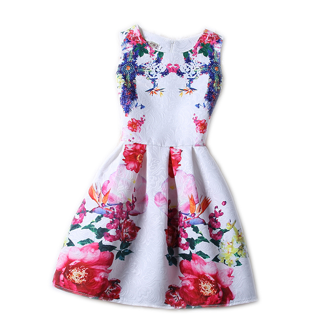 New Little Teens Girl Pageant Wedding Formal Party Dress Crew Collar