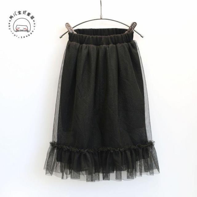 2017 весна черный девушки юбки для детей сетка тюль юбка 2-8years девочка princss pettiskirt дети танцуют костюм