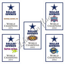 Dallas Cowboys flag 30x45cm or 60x90cm custom champions flag banner