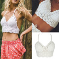 DayLook 2016 Summer String Bralette Top White Lace Crop Tops Spagetti Strap Top Club Style Casual Sexy Camisas Femininas