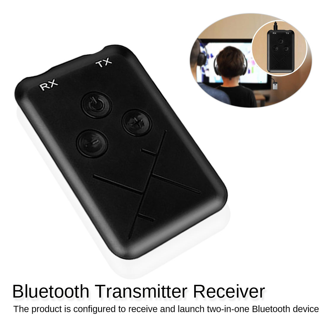 2 in1 Bluetooth 4.2 Transmitter Receiver Stereo Audio 3.5mm Music USB Adapter