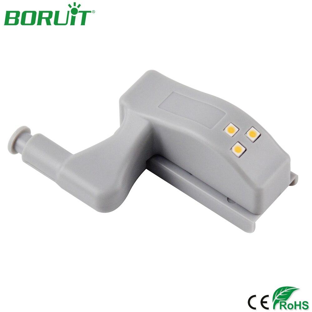 BORUiT LED Cabinet Light Sensor Night Light For Kitchen Bedroom Cabinet Inner Hinge Lamp Wireless Wardrobe Sensor Closet Light