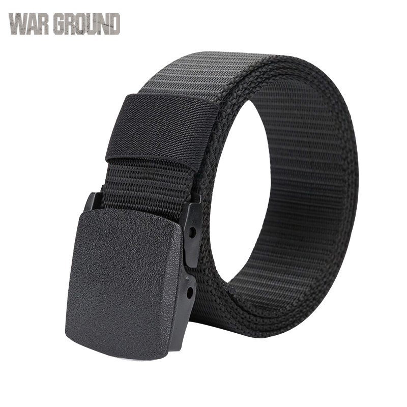 Tactical belt men 39 s outdoor canvas belt mountaineering camping safe waist support hunting sports wearable breathable military in Waist Support from Sports amp Entertainment