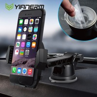 Yianerm Suction Gel Cup Car Phone Holder Windshield Dashboard Mount Cradle With Quick Release Button For