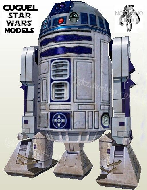 Mô hình giấy Star Wars Skywalker Robot R2-D2 96 cm cao DIY làm thủ công lắp ráp đồ chơi