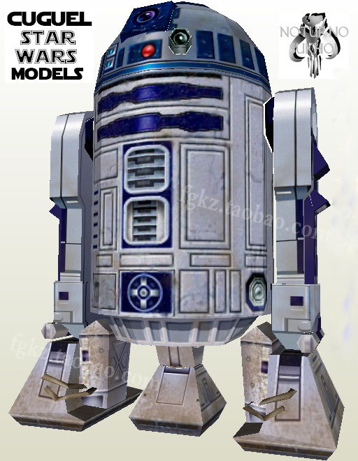 Paper Model Star Wars Skywalker Robot R2-D2 96CM High DIY Assembled Handmade Toy ...