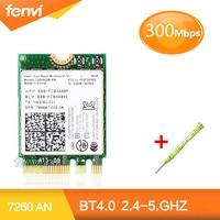 Dual B And Wireless-NสำหรับIntel 72607260NGW 7260 NGFF Wifiบลูทูธ4.0มินิการ์ดWlanสนับสนุนHP/a sus/