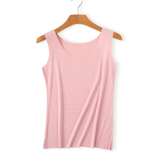 Women Tank Tops loose Modal summer 2019 Solid color Oneck and V collar Top vogue Slim fit New arrive fashion