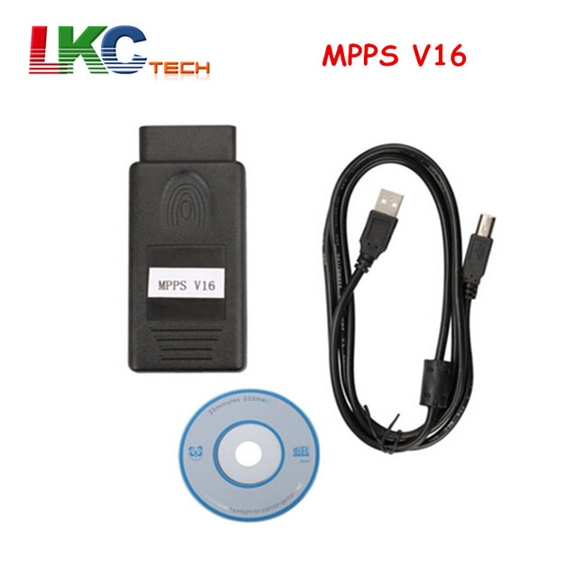 Best Offers 20pcs/lot DHL FREE OBD2 Diagnostic Interface MPPS V16 Newest MPPS V16 ECU Chip Tuning for EDC15 EDC16 EDC17 MPPS V16