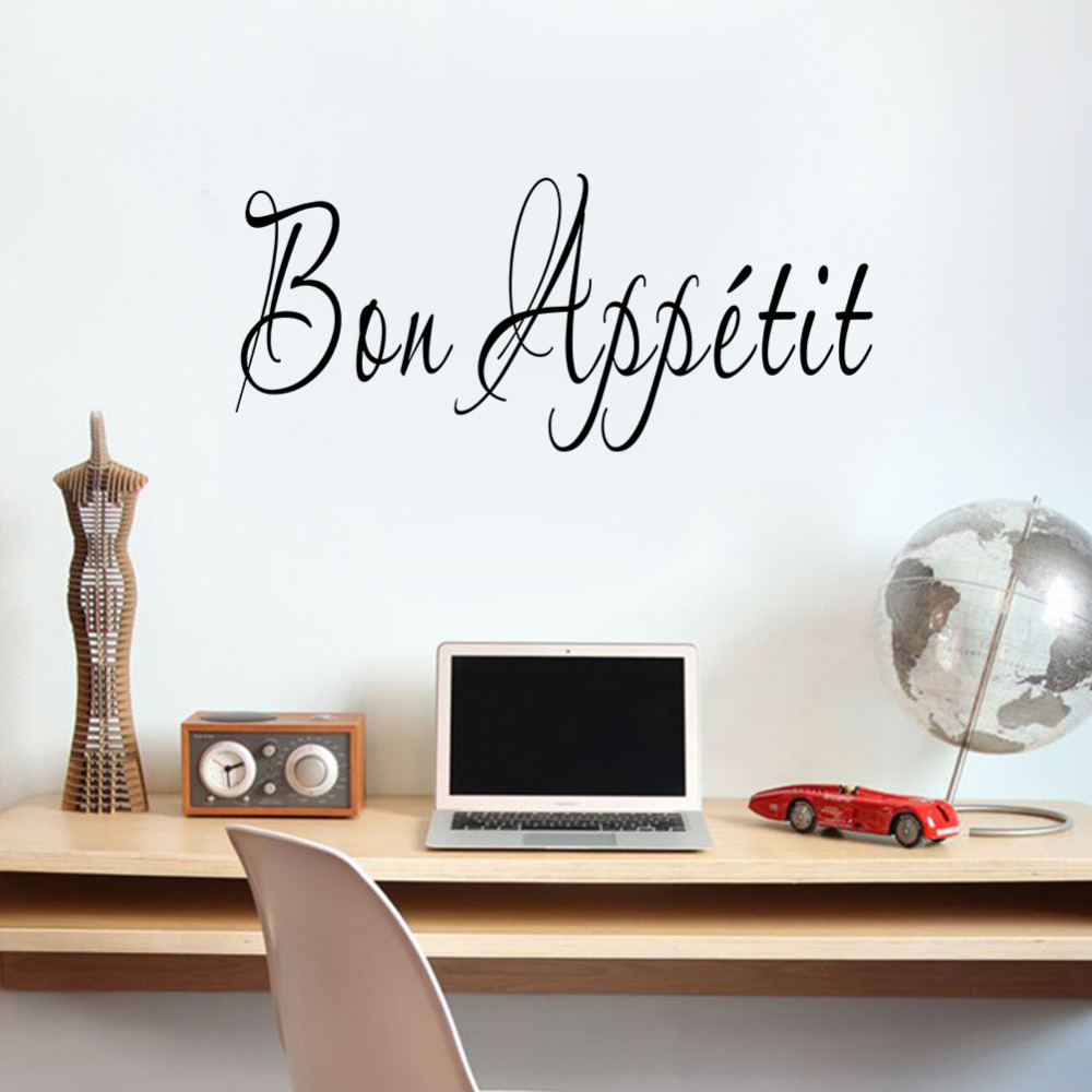 Aliexpress.com : Buy Creative French Language Bon Appetit Restaurant Store Kitchen  Decoration Family Home Decal Wall Sticker Mural Art Stickers From ...