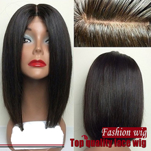 2016 Hot Selling BOB Wig Heat Hesistant Natural Color Wig Korean high temperature fiber Synthetic hair Glueless Lace Front wigs
