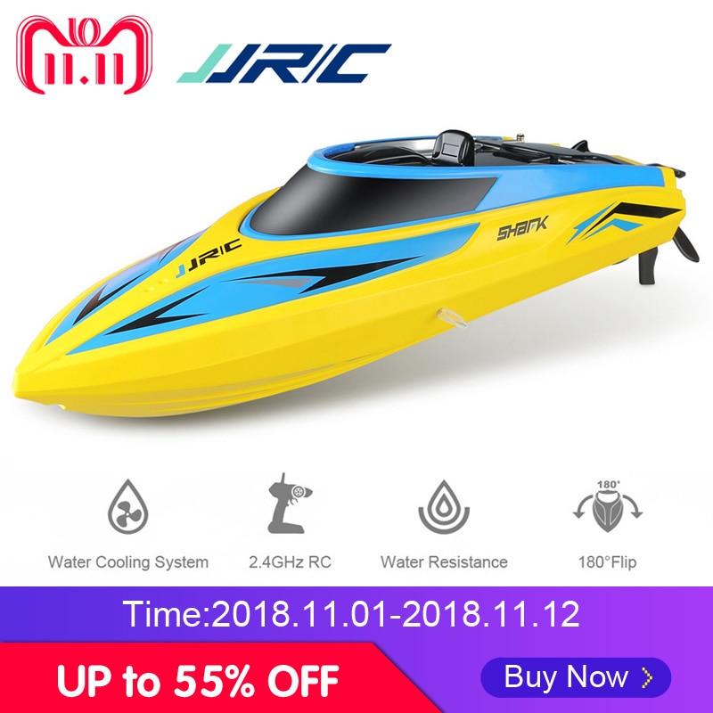 купить JJRC S1 S2 S3 RC Boat Speedboat 2.4GHz 2CH Portable Mini Remote Control Ship Self-Righting High Speed 25km/h Toys for Children недорого