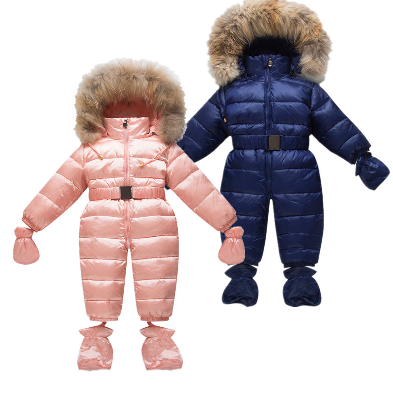 Children Newborn Winter Rompers Duck Down Jumpsuit Kids Clothing Baby Clothes Snow Wear Boy Girl Snowsuit Thin Warm Coveralls russia winter boys girls down jacket boy girl warm thick duck down