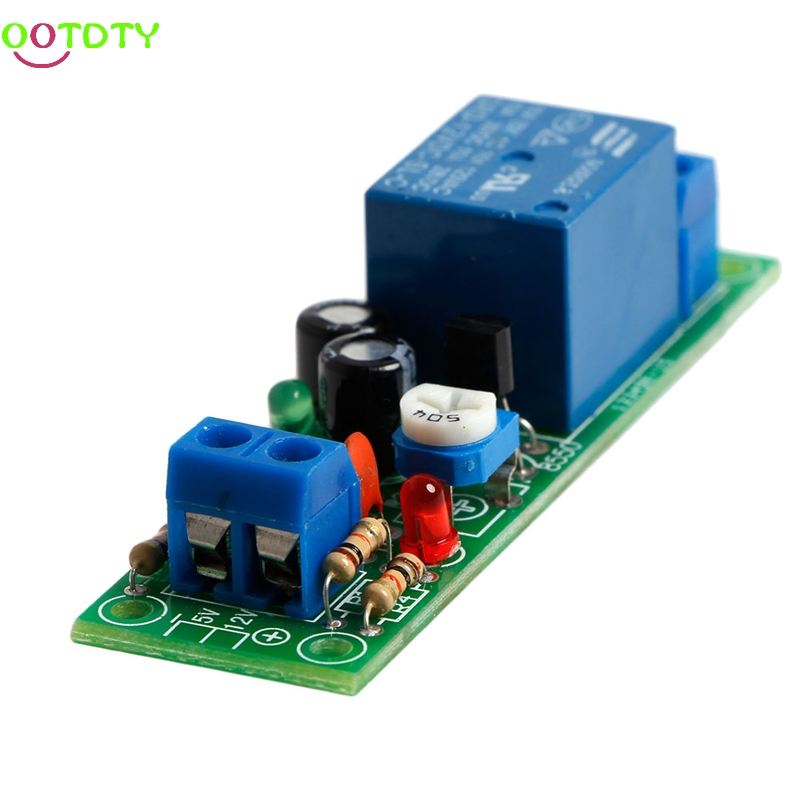 Timer Switch JK02B 0-60 Seconds DC Adjustable Delay 12V Input Relay Module 828 Promotion dc 12v led display digital delay timer control switch module plc automation new