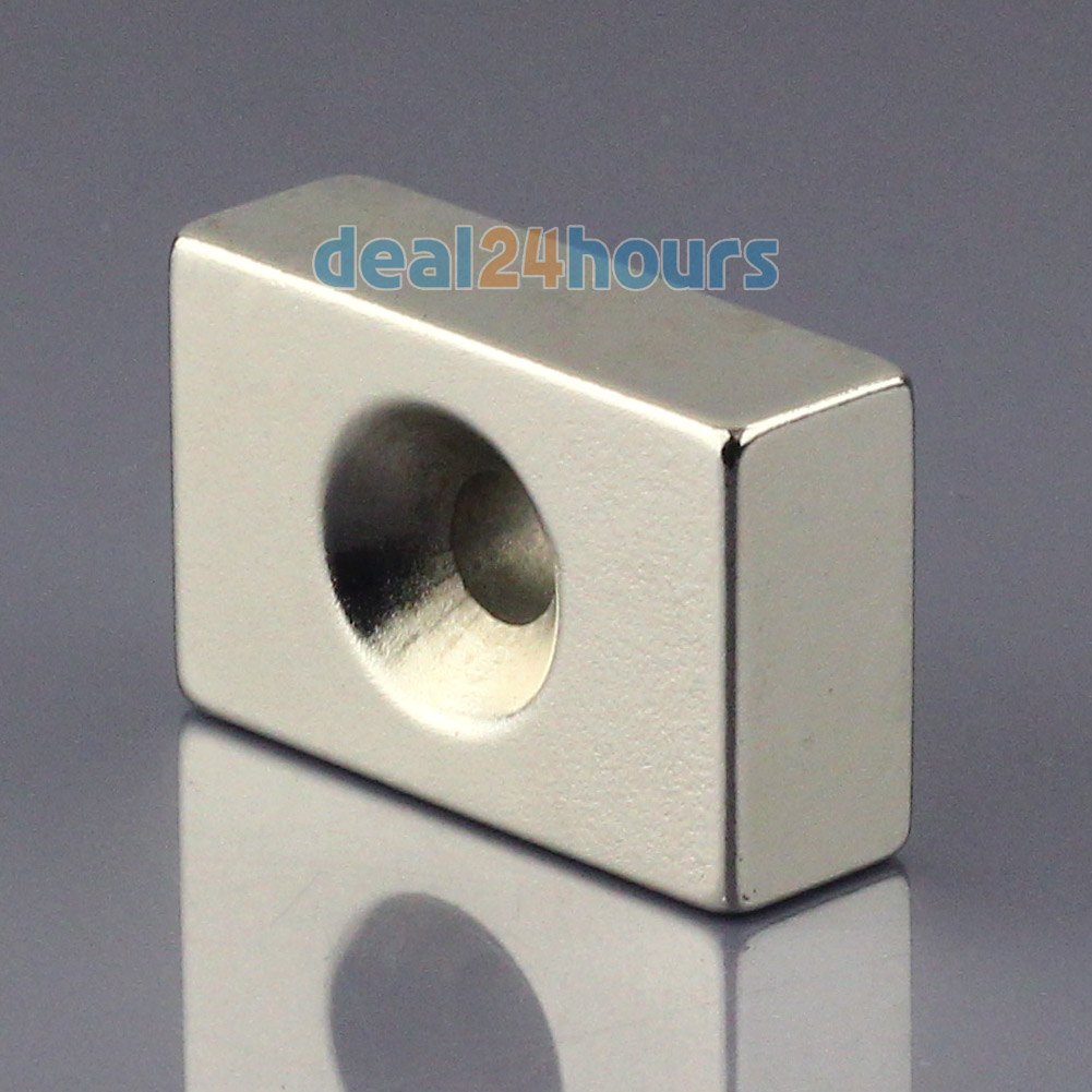 1pc N50 Super Strong Block Cuboid Neodymium Magnets 30 x 20 x 10mm  Countersunk Hole 5mm Rare Earth Wholesale OMO Magnetics! 2pcs bulk strong ndfeb countersunk block magnets 40mm x 40mm x 20mm with single hole n35 neodymium square cuboid magnet