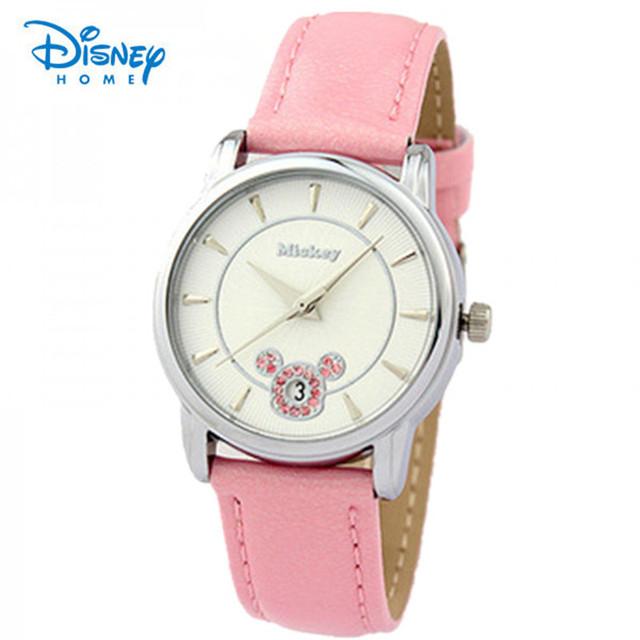 100% Genuine Da Disney Relógios Casuais Relógios de Quartzo Moda Feminina relógio de pulso Ladie Temperamento Wilds