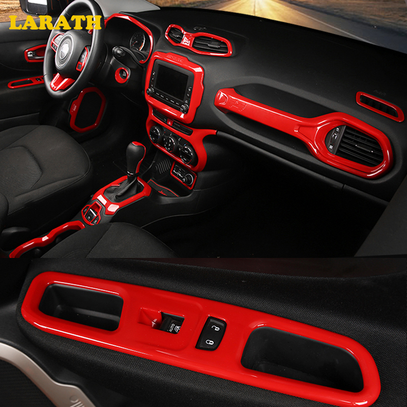 larath car styling car accessories interior part trim frame sticker cover for jeep renegade 2015. Black Bedroom Furniture Sets. Home Design Ideas