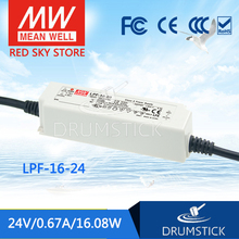 цена на [VII] Hot! MEAN WELL original LPF-16-24 24V 0.67A meanwell LPF-16 24V 16.08W Single Output LED Switching Power Supply
