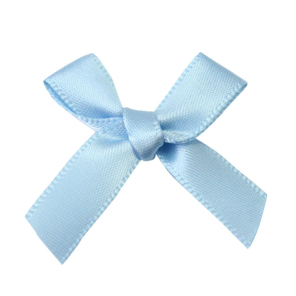 SATIN BOW RIBBONS PINK BLUE /& WHITE For Scrapbooking Card-making Craft-DIY