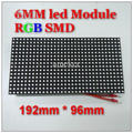 Indoor p6 outdoor smd led module dot matrix 32 x 16 rgb