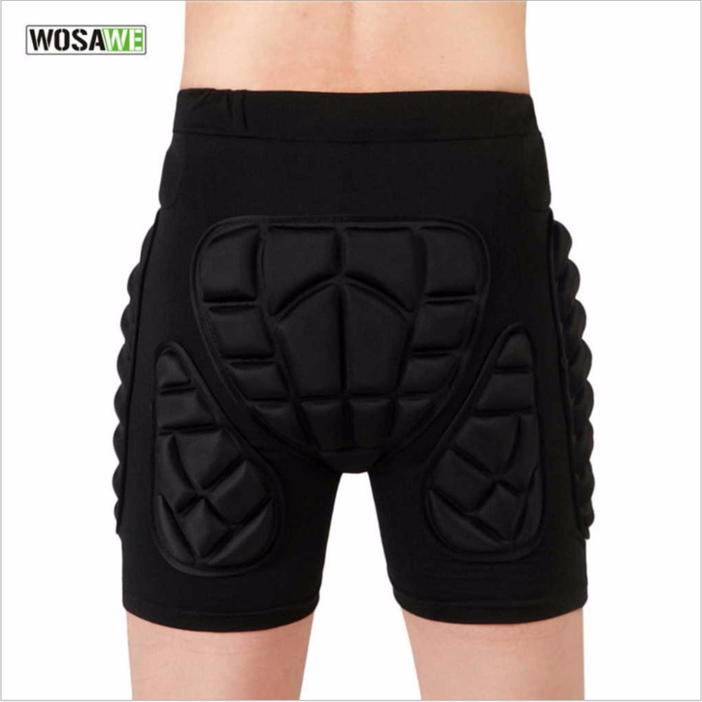 WOSAWE Professional Adults Hip Padded Protector Comfortable Sport Safety pads Wearing Protection Pants Butt Tailbone Protector