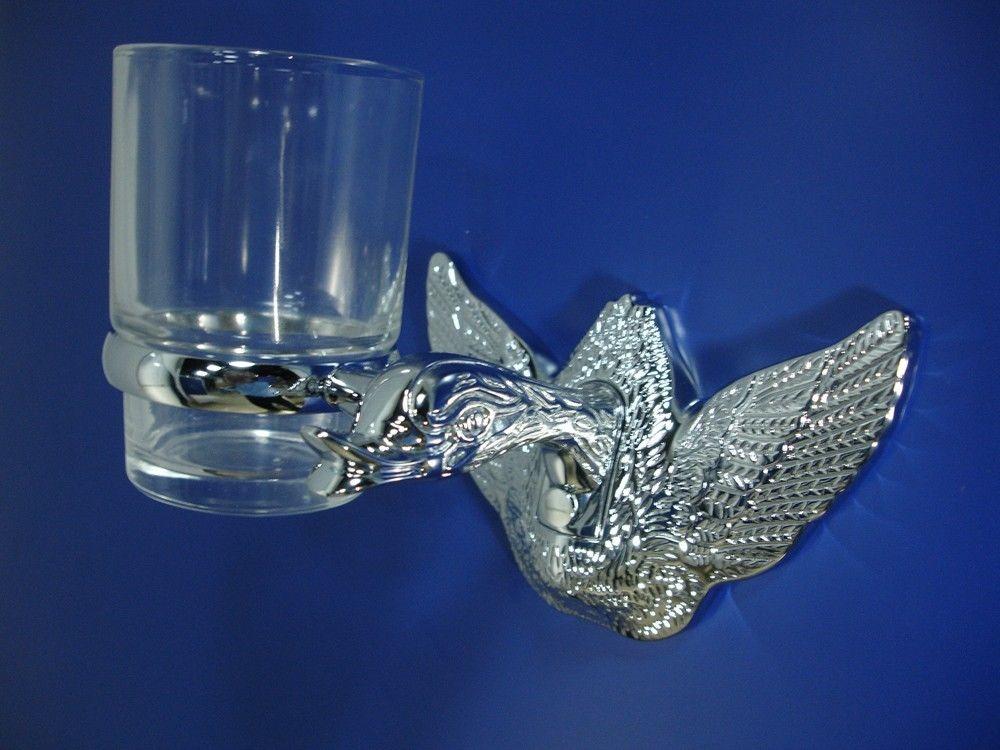 Free shipping Chrome  finish swan  Single  cup tumbler holder niko 50pcs chrome single coil pickup screws