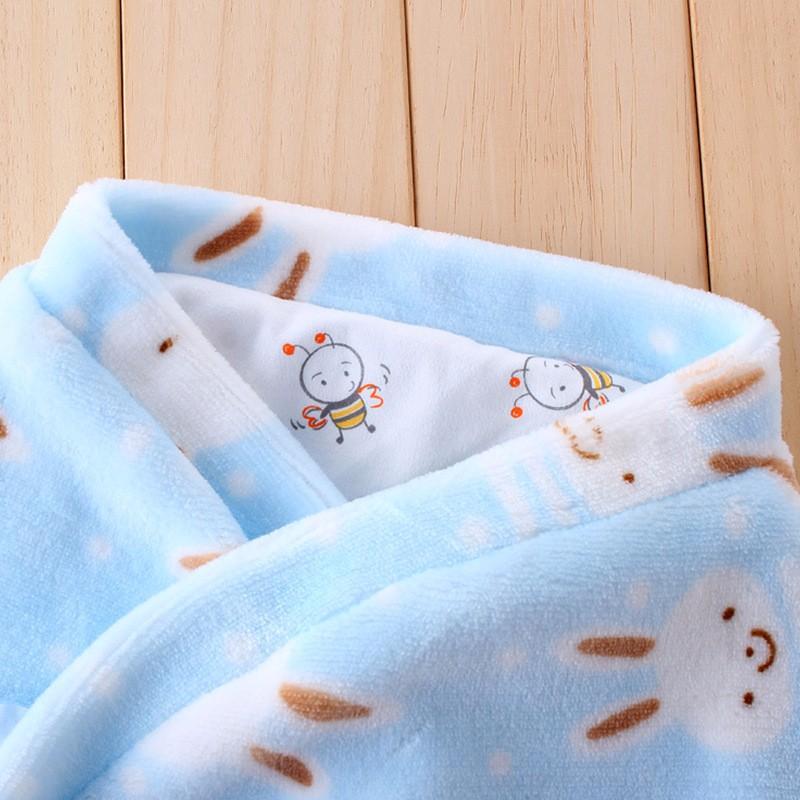 New Baby Receiving Blankets Cotton Newborn Wrap Blanket Warm Soft Sleeping Bag Cartoon Flannel Receiving Blanket For Boys Girls (10)
