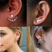 Korean Jewelry Zircon Pearl Heart Crystal Flower Angel Wings Geometry Hoop Earrings For Women Statement Ear Fashion Jewelry(China)