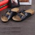 designer men beach shoes flats Cork Slippers Sandals Casual Double Buckle Clogs slides Flip Flops Shoe sandalias adulto XK121608